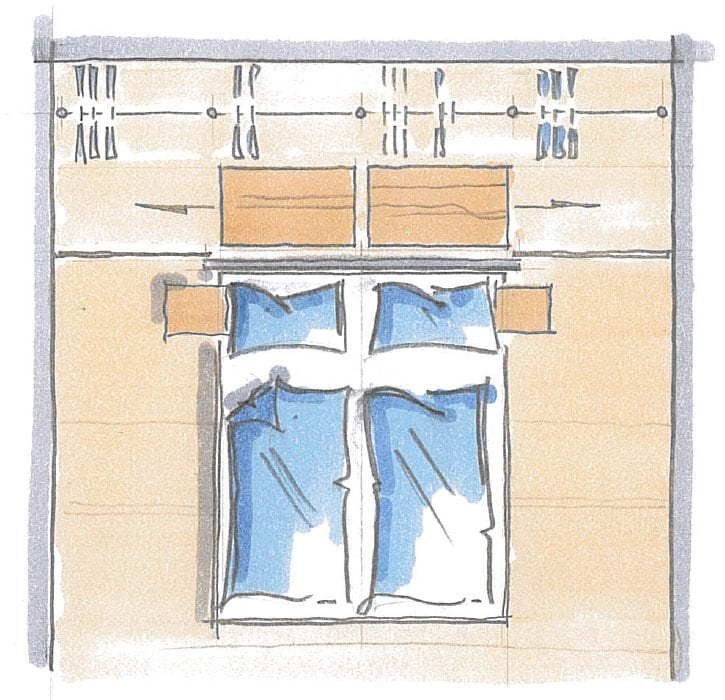 Begehbarer Kleiderschrank - geschlossenes system