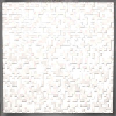 Stoffe-Leder-Sondermaterial | Bespannung tetrisstruktur