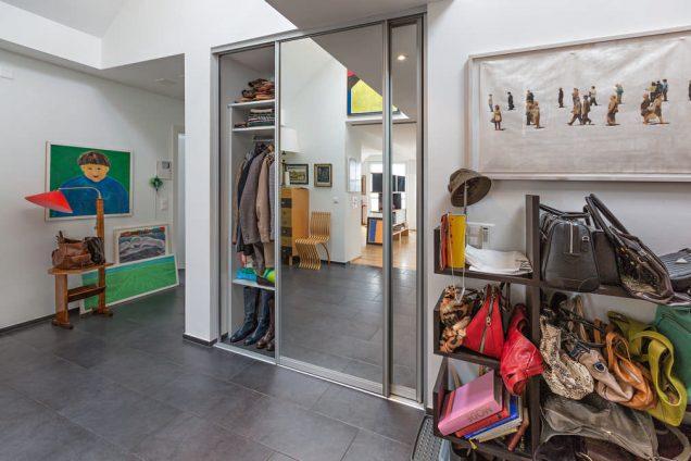 Garderobe-Garderobenschrank | Garderobe mit Schuhregal und Spiegelfront Zürich 2