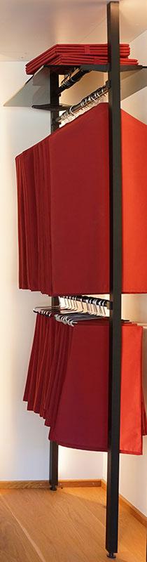 Schrankinnenausbau | Saeulensystem UNO mit Kleiderstangen