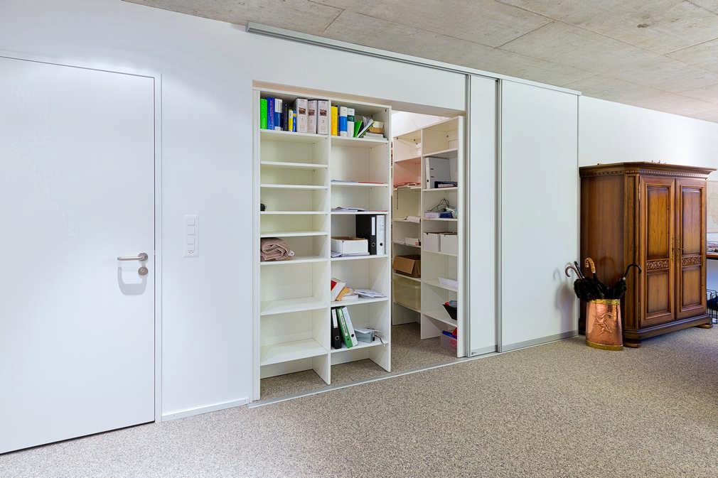 Schiebetür als Raumteiler | Schiebetüren als Raumteiler für Büro Archiv Zollikon 1