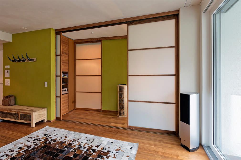 Schiebetüren im Japanischen Stil mit Massivholzrahmen in Eiche Davos 1