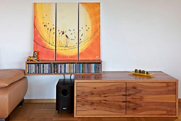 Sideboard CD halter Stereoanlage mit Plattenspieler kombination Feldkirch 0