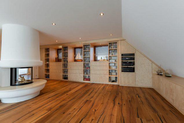 Wohnwand für Wohnzimmer in Holz furniert Feldkirch 0