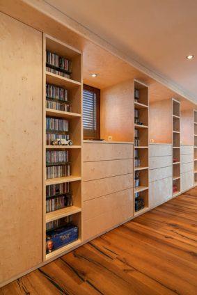 Wohnwand für Wohnzimmer in Holz furniert Feldkirch 3
