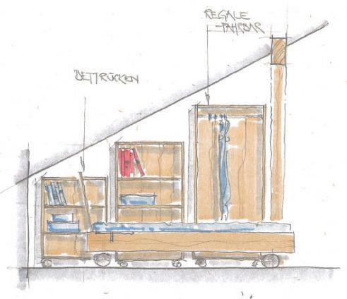 Schrank in der Dachschräge | Dachschraegenschrank 6