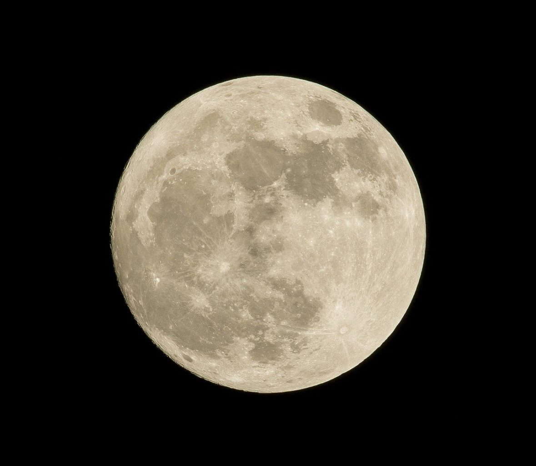 full moon, night, sky